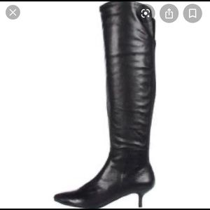 Nine West Knee High Kitten Heel Boots Size 8.5
